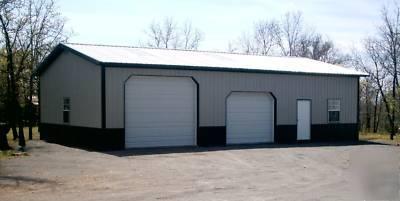 Pole barn 30x60 w overhangs matrl list building plans for 30 by 60 pole barn