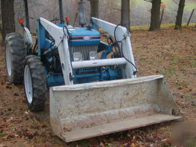 Bush Hog Front End Loader Off A Ford 3910 Tractor 4wd