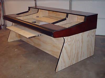 custom recording studio desk mixing console. Black Bedroom Furniture Sets. Home Design Ideas